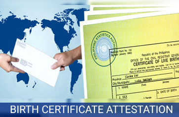 birth certificate attestation services in india