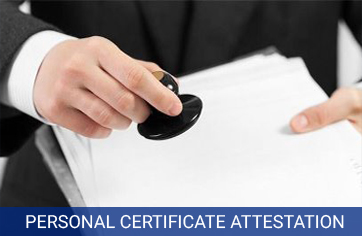 personal certificate attestation services in india